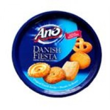 Ano Danish Butter Cookies Tin Blue // 454 gm