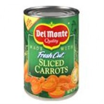 Del Monte Sliced Carrots Tin // 411 gm