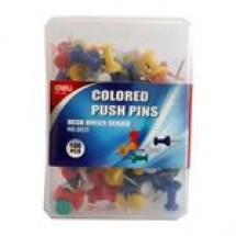 Deli Colored Push Pins // 100 pcs