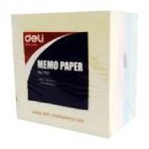 Deli Memo Paper 76X76mm 100 Sheets // 4 pcs