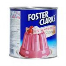 Foster Clarks Strawberry Custard Tin // 400 gm