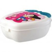 RFL Plastic Apple Shape Tiffin Box White // each