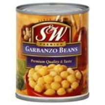 S and W Premium Garbanzo Beans // 439 gm