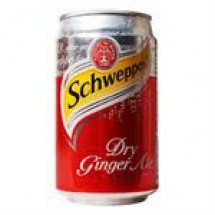 Schweppes Dry Ginger Ale Can // 330 ml