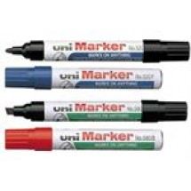 Uni Fine Permanent Marker Pen Red // each
