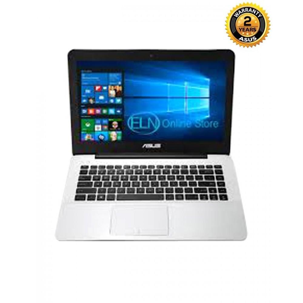"""Asus X453SA – N3700 Intel Pentium Quad Core - 4GB RAM – 1TB HDD - HD Graphics - 14"""" Notebook – White"""