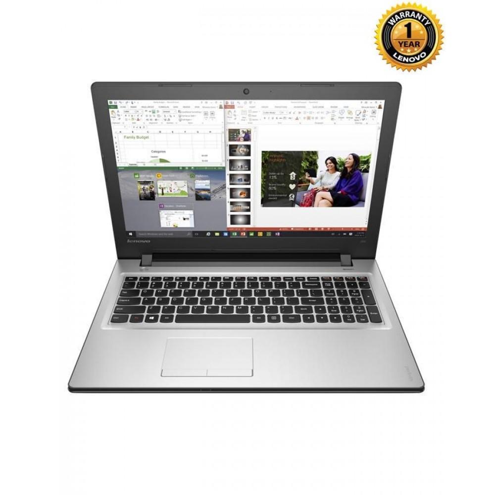 "Lenovo IP 300 - Core i7 - 8GB RAM - 1TB HDD - AMD Radeon R5 M330 2GB - 14"" - Silver"