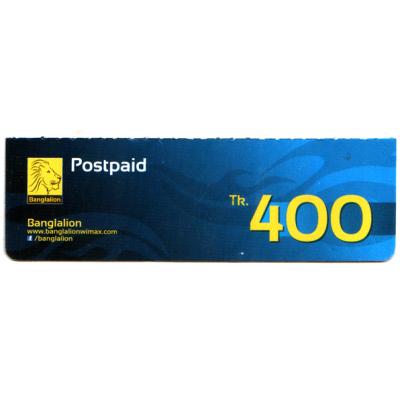 Banglalion Wimax 400 Postpaid Card