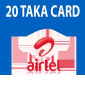 Airtel 20 Taka Card